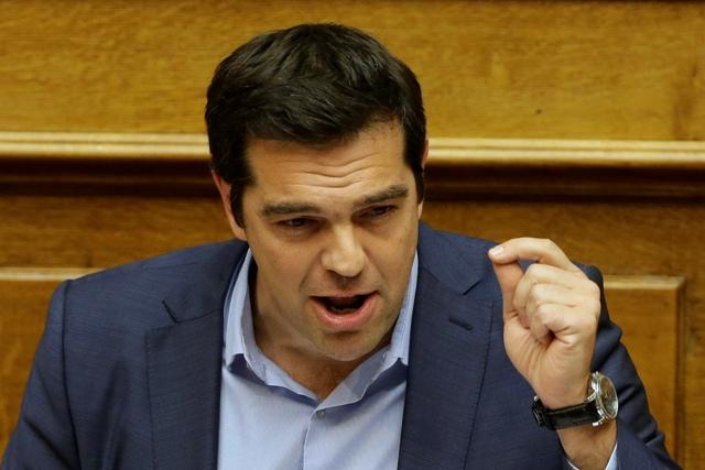 Na snímke grécky premiér Alexis Tsipras