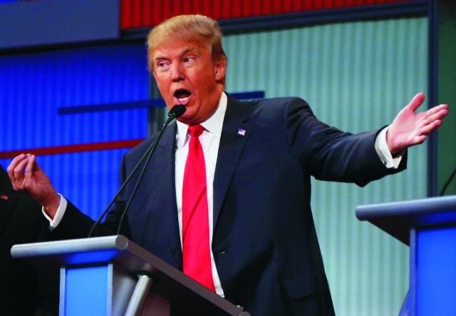 Na snímke republikánsky prezidenstký kandidát Donald Trump