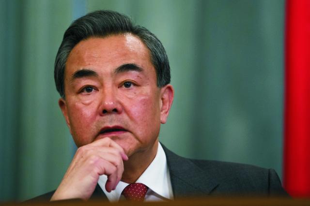 Na snímke čínsky minister zahraničných vecí  Wang I