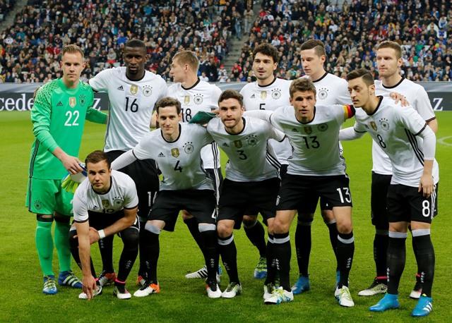 Na snímke futbalisti Nemecka