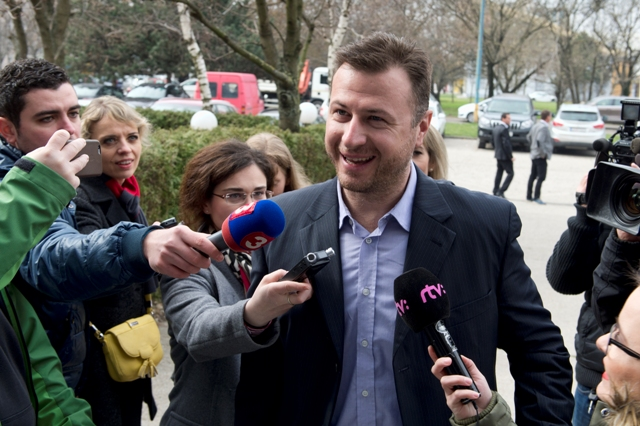 Na snímke predseda klubu Mosta-Híd Gábor Gál