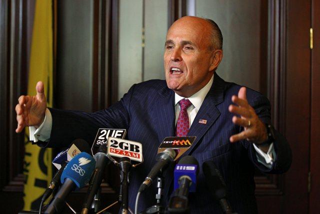 Na snímke bývalý starosta New Yorku Rudy Giuliani