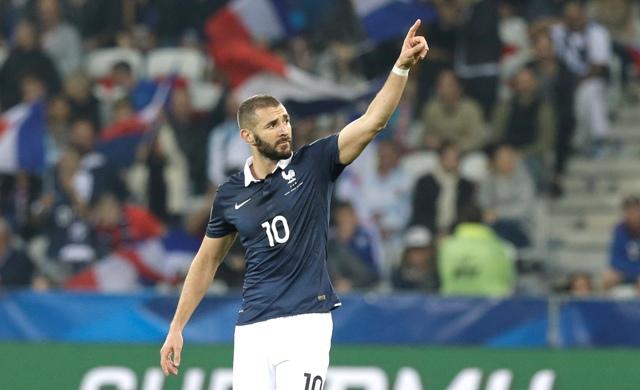 Na snímke francúzsky futbalový útočník Karim Benzema