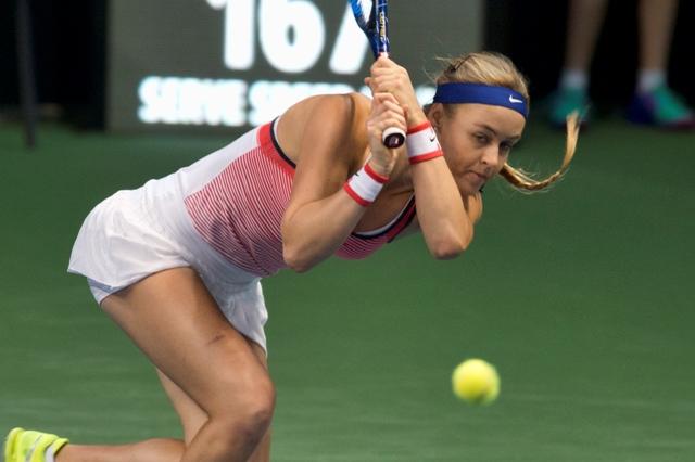 Na snímke slovenská tenisová jednotka Anna Karolína Schmiedlová