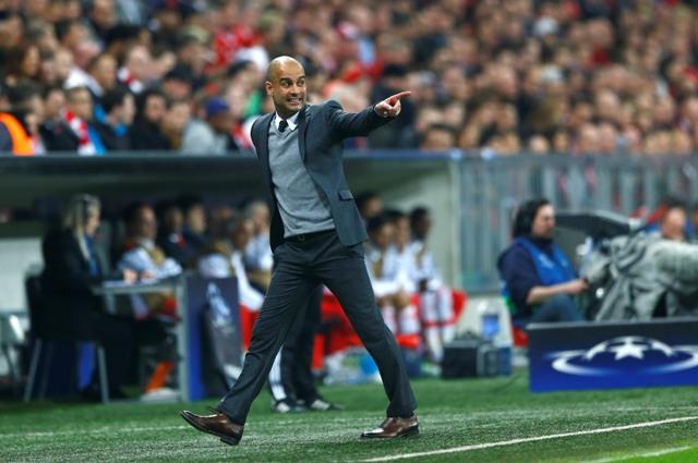 Na snímke tréner Bayernu Pep Guardiola