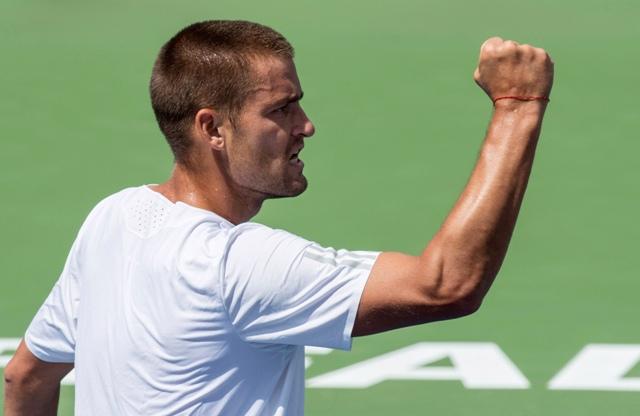 Na snímke ruský tenista Michail Južnyj