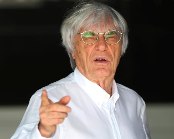 Na snímke šéf Formule 1 Bernie Ecclestone