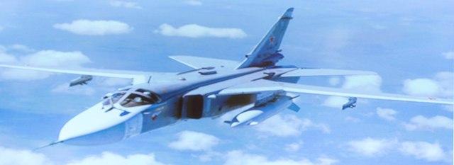 Na snímke ruský stíhací bombardér Su-24