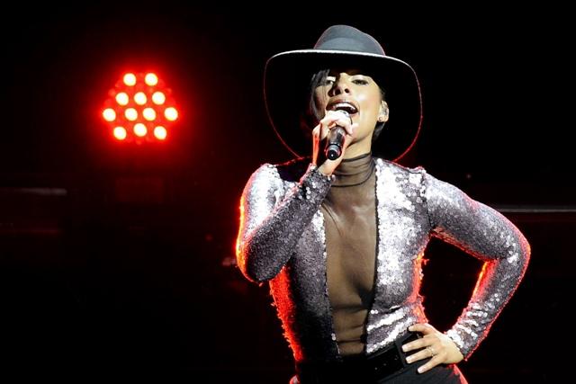 Na snímke americká speváčka Alicia Keys