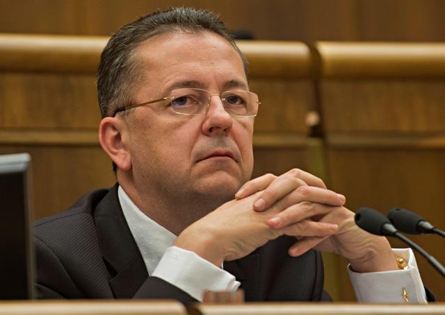Na snímke podpredseda NR SR Martin Glváč