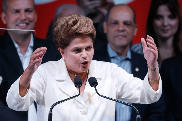 Na snímke brazílska prezidentka Dilma Rousseffová