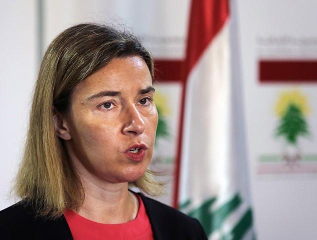 Na snímke vysoká predstaviteľka Európskej únie pre zahraničné veci Federica Mogheriniová