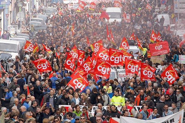 Ilustračné foto z marcového francúzskeho protestu