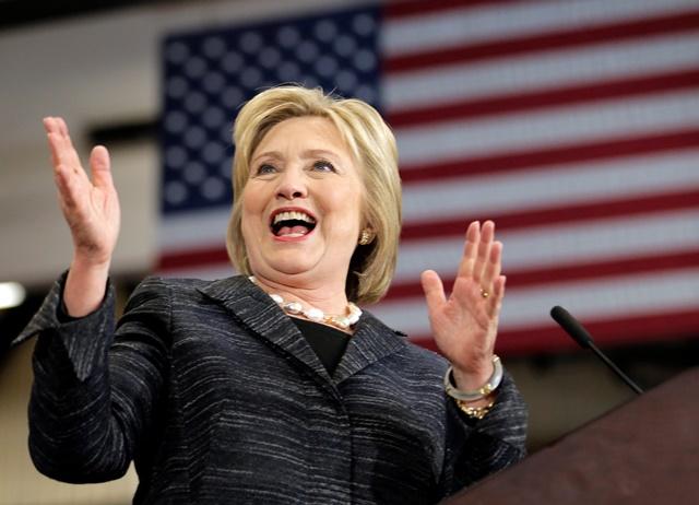 Na snímke kandidátka na post prezidenta Hillary Clinton