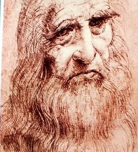 Na snímke Leonardo  da Vinci