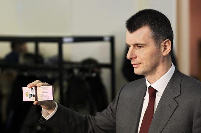 Na snímke ruský  miliardár  Michail Prochorov