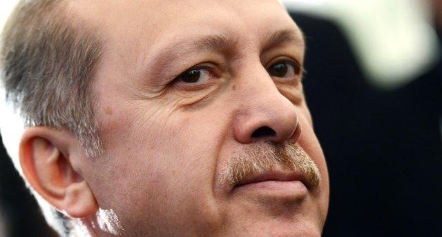 Na snímke turecký premiér Recep Tayyip Erdogan