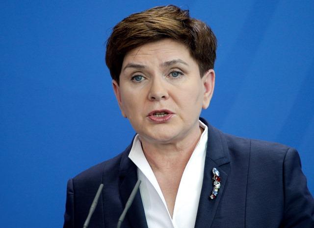 Na snímke poľská premiérka Beata Szydlov