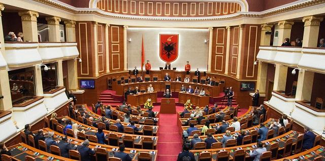 Na archívnej snímke albánsky parlament