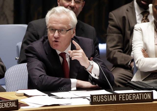 Na snímke ruský veľvyslanec pri OSN Vitalij Čurkin