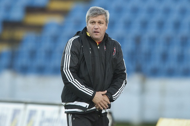 Na snímke tréner Trnavy Ivan Hucko