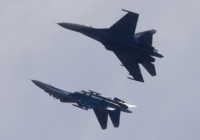 Ruské stíhačky Su-27. Ilustračné foto