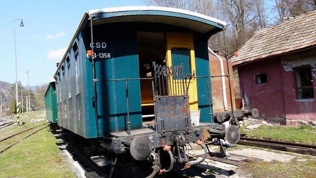Na snímke jeden z vagónov historickej ozubnicovej železnice v Tisovci. Fotot: Ján Siman