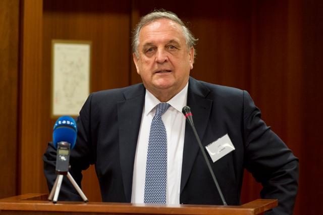 Na snímke predseda SOPK Peter Mihók