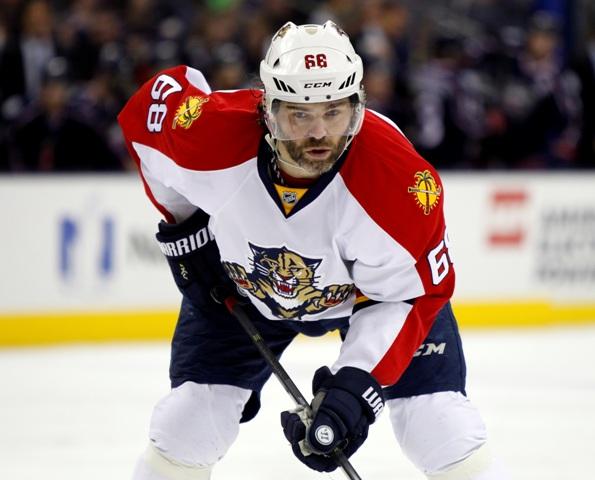 Na snímke hokejista Floridy Panthers Jaromír Jágr