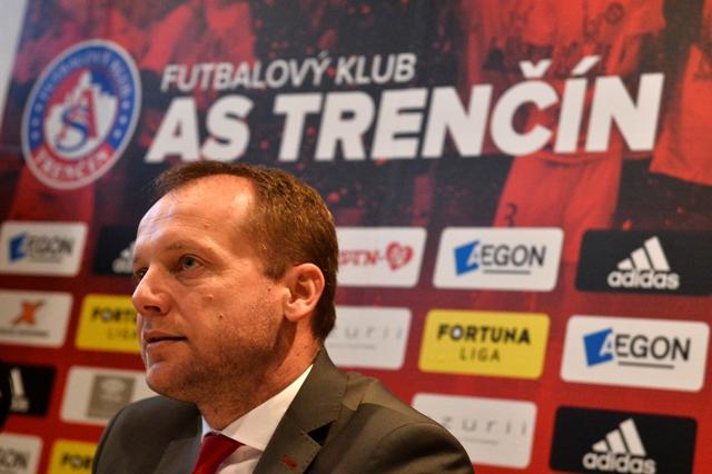 Na snímke generálny manažér AS Trenčín Róbert Rybníček