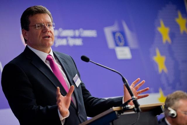 Na snímke podpredseda Európskej komisie Maroš Šefčovič
