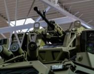 Na snímke nová generácia obrneného vozidla slovenskej výroby Aligátor Master II. počas 6. ročníka veľtrhu obrannej techniky IDEB 2016