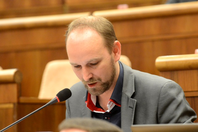 Na snímke poslanec hnutia OĽaNO a podpredseda kultúrneho výboru parlamentu Jozef Viskupič
