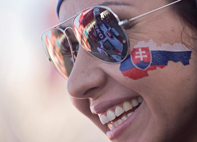 Na ilustračnej snímke slovenská fanúšička