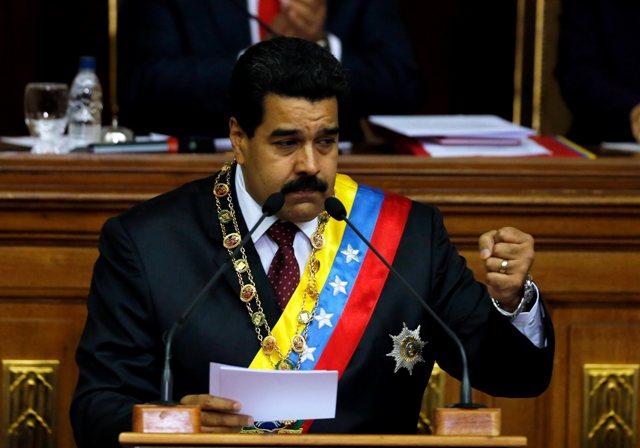 Na snímke venezuelský prezident Nicolás Maduro