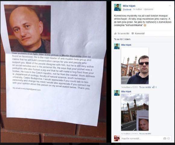 Slniečkár vyzýva moslimských radikálov aby zavraždili českého docenta