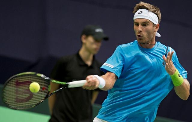 Na snímke slovenský tenista Norbert Gombos