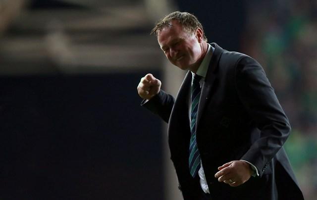 Na snímke tréner futbalovej reprezentácie Severného Írska Michael O´Neill