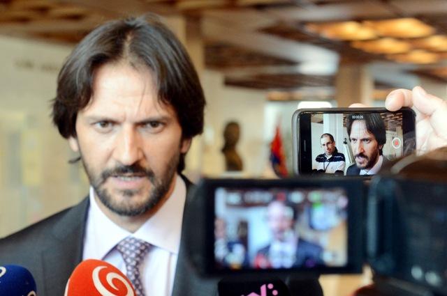 Na snímke podpredseda vlády SR a minister vnútra Robert Kaliňák