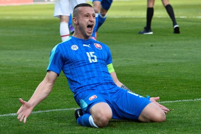 Na snímke slovenský reprezentant Adam Zreľák