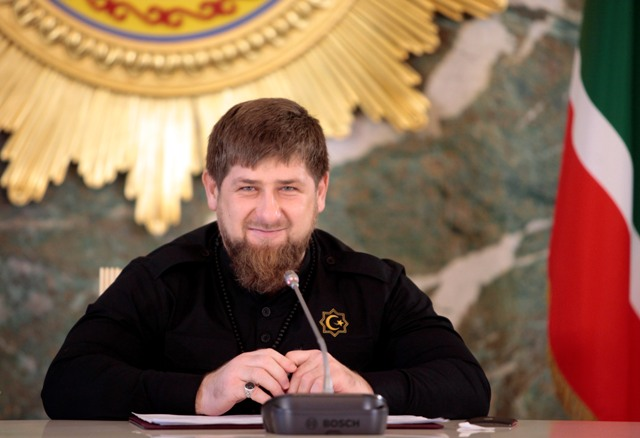Na snímke Ramzan Kadyrov