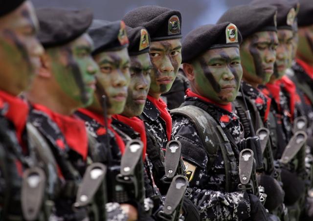 Filipínski vojaci. Ilustračné foto