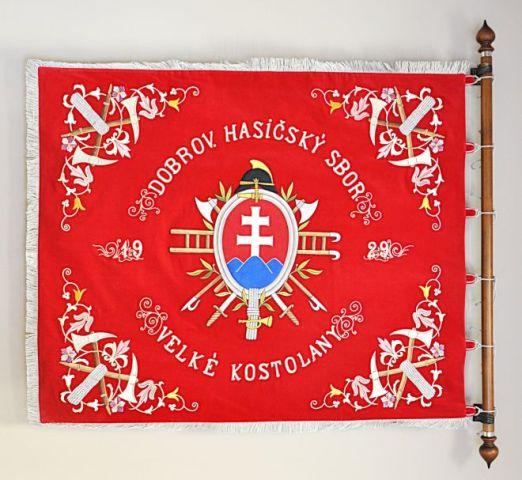 Replika pôvodnej zástavy DHZ Veľké Kostoľany sa začala v dielňach ALERIONU vyšívať v prvých dňoch roka 2016