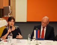 V Bratislave sa konalo Prvé rusko-slovenské diskusné fórum. Na snímke vpravo Alexey Fedotov- veľvyslanec Ruska na Slovensku a  Anna Likaya