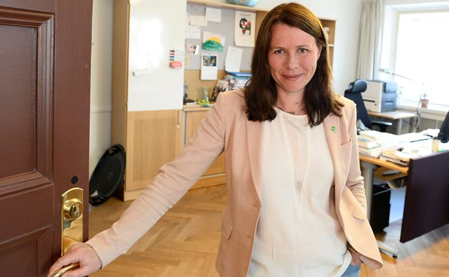 Na snímke švédska vicepremiérka a ministerka životného prostredia Asa Elisabeth Romsonová