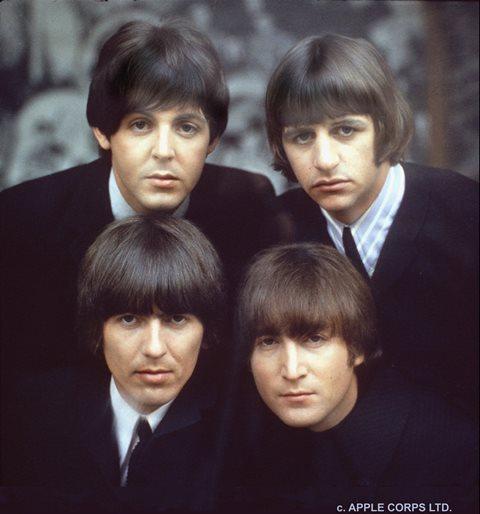 Na snímke členovia skupiny The Beatles