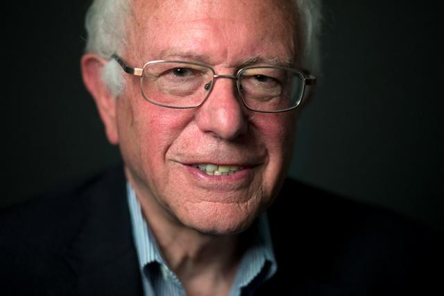 Na snímke uchádzač o prezidentskú nomináciu Demokratickej strany v USA Bernie Sanders