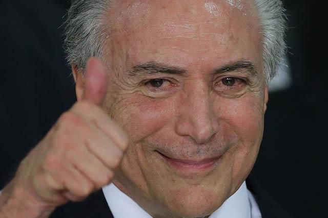 Dočasný brazílsky prezident Michel Temer