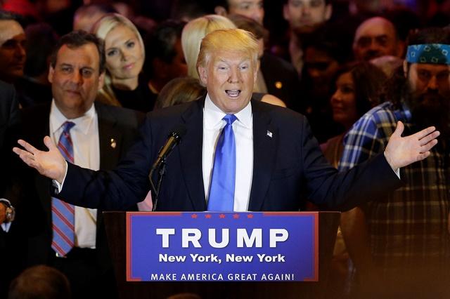 Na snímke republikánsky prezidentský kandidát Donald Trupm