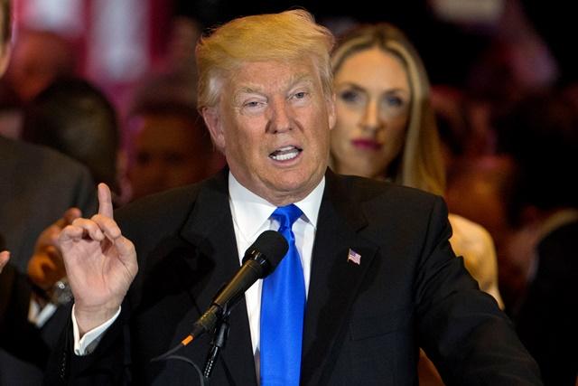 N snímke republikánsky prezidentský kandidát Donald Trump